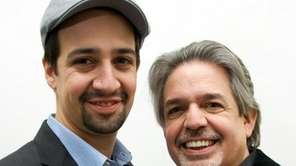 Lin-Manuel Miranda, left, with father Luis A. Miranda