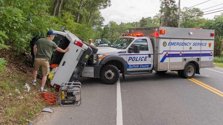 At least one person was injured Sunday, Sept.