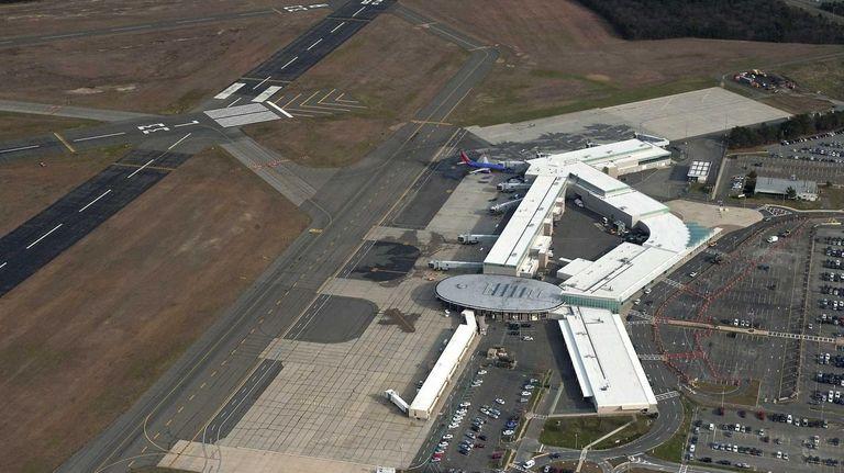 Long Island's MacArthur Airport, seen here on Dec.