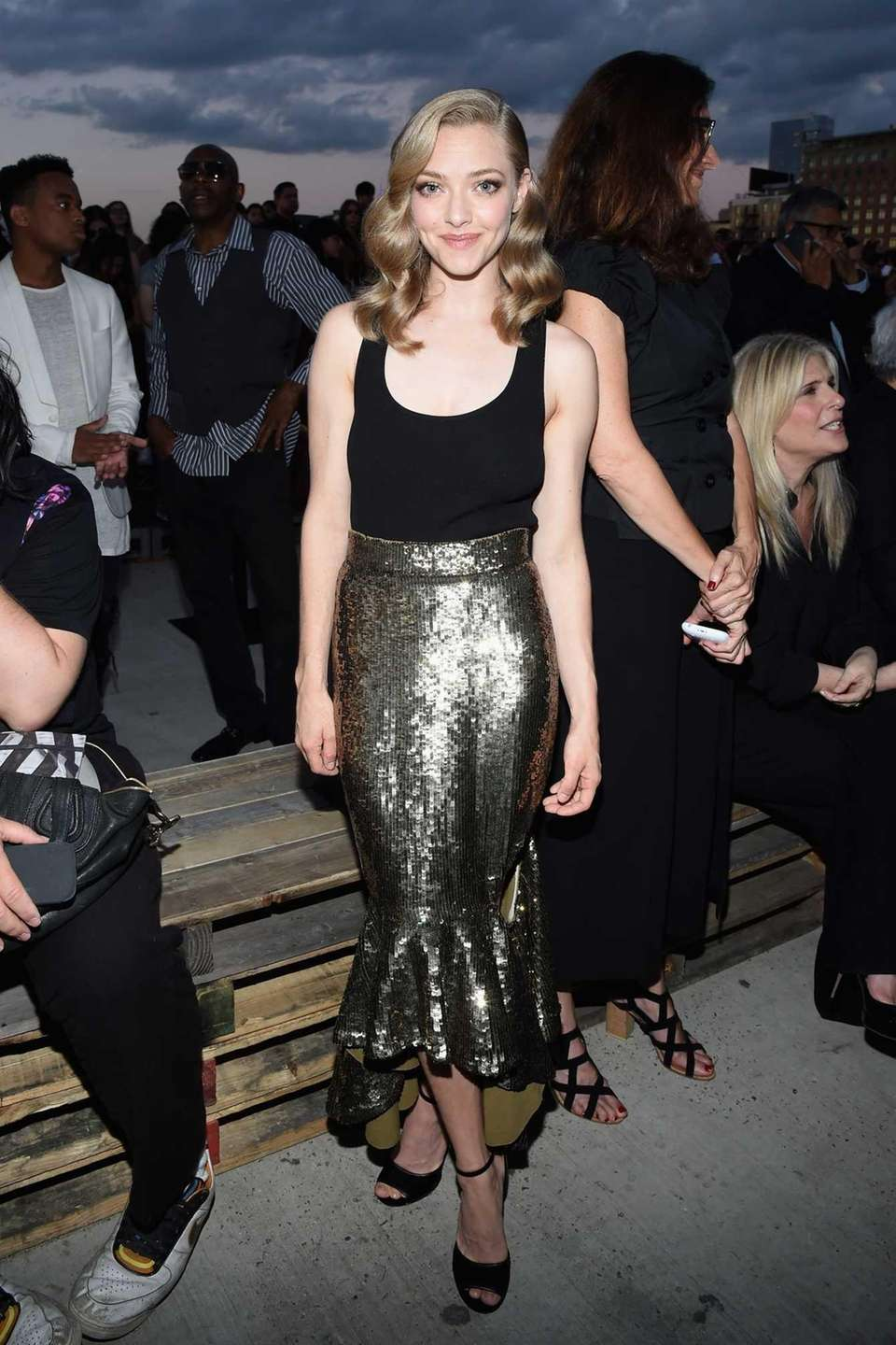 Amanda Seyfried attends the Givenchy fashion show during