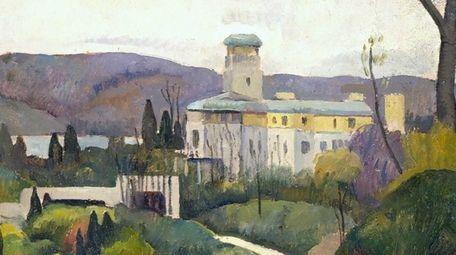 A painting of Laurelton Hall by Luigi Lucioni