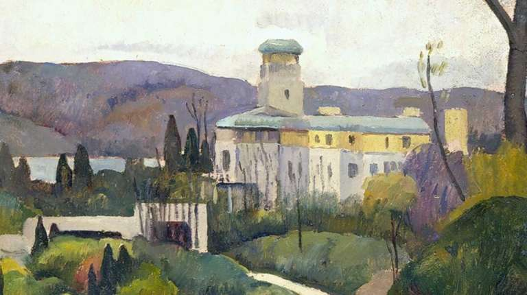 A painting of Laurelton Hall by Luigi Lucioni