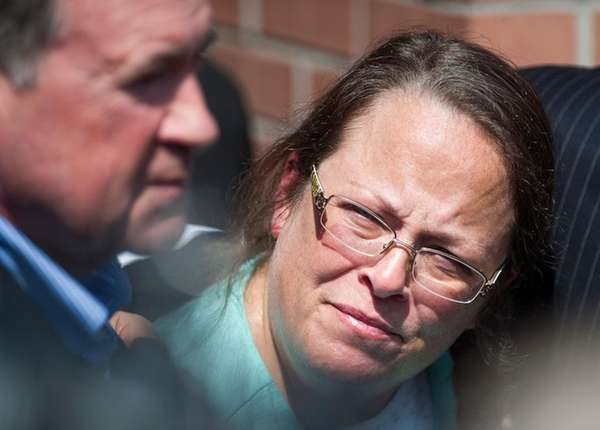 Kim Davis, a Kentucky county clerk jailed for