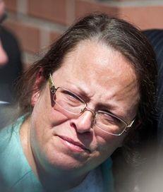 Kim Davis, a Kentucky county clerk jailed for