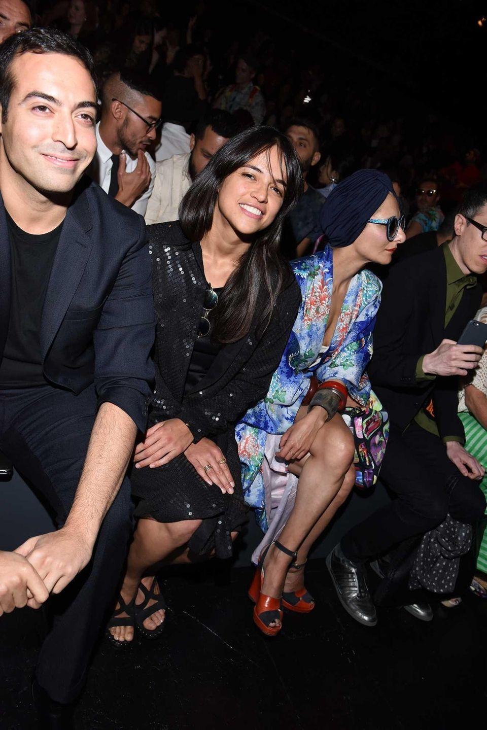 Actress Michelle Rodriguez attends the Jeremy Scott show