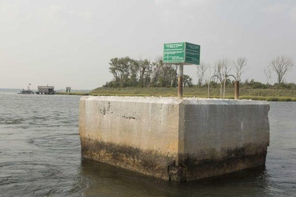 The Bay Park sewage treatment plant discharges its