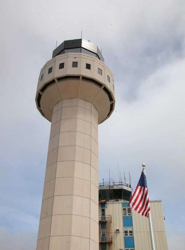 The air traffic control tower at Long Island