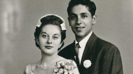 Christina and George Martinez on their wedding day,