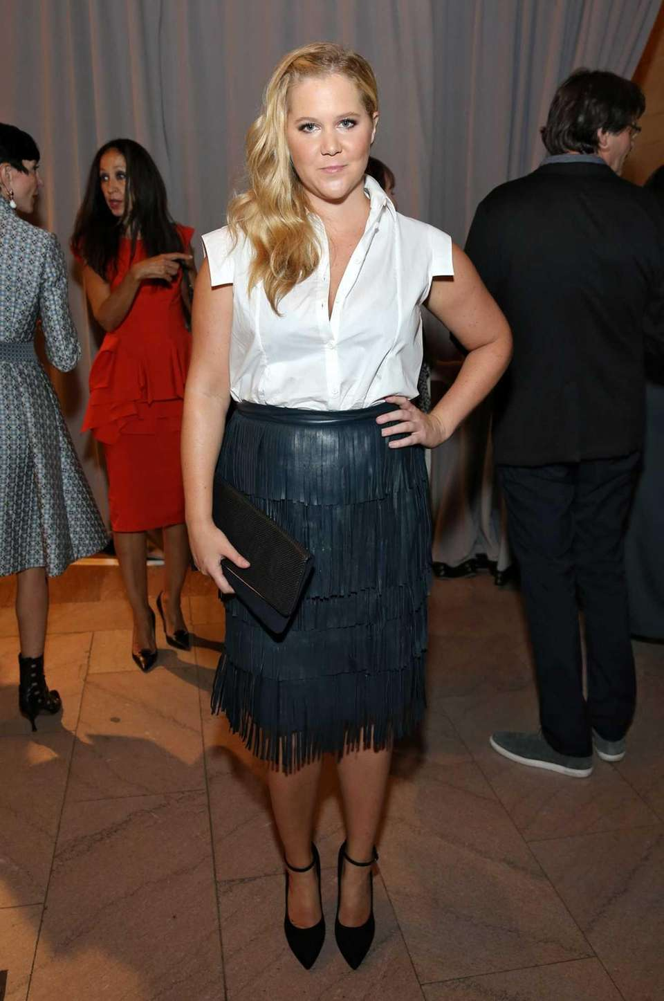 Actress and comedian Amy Schumer backstage at the