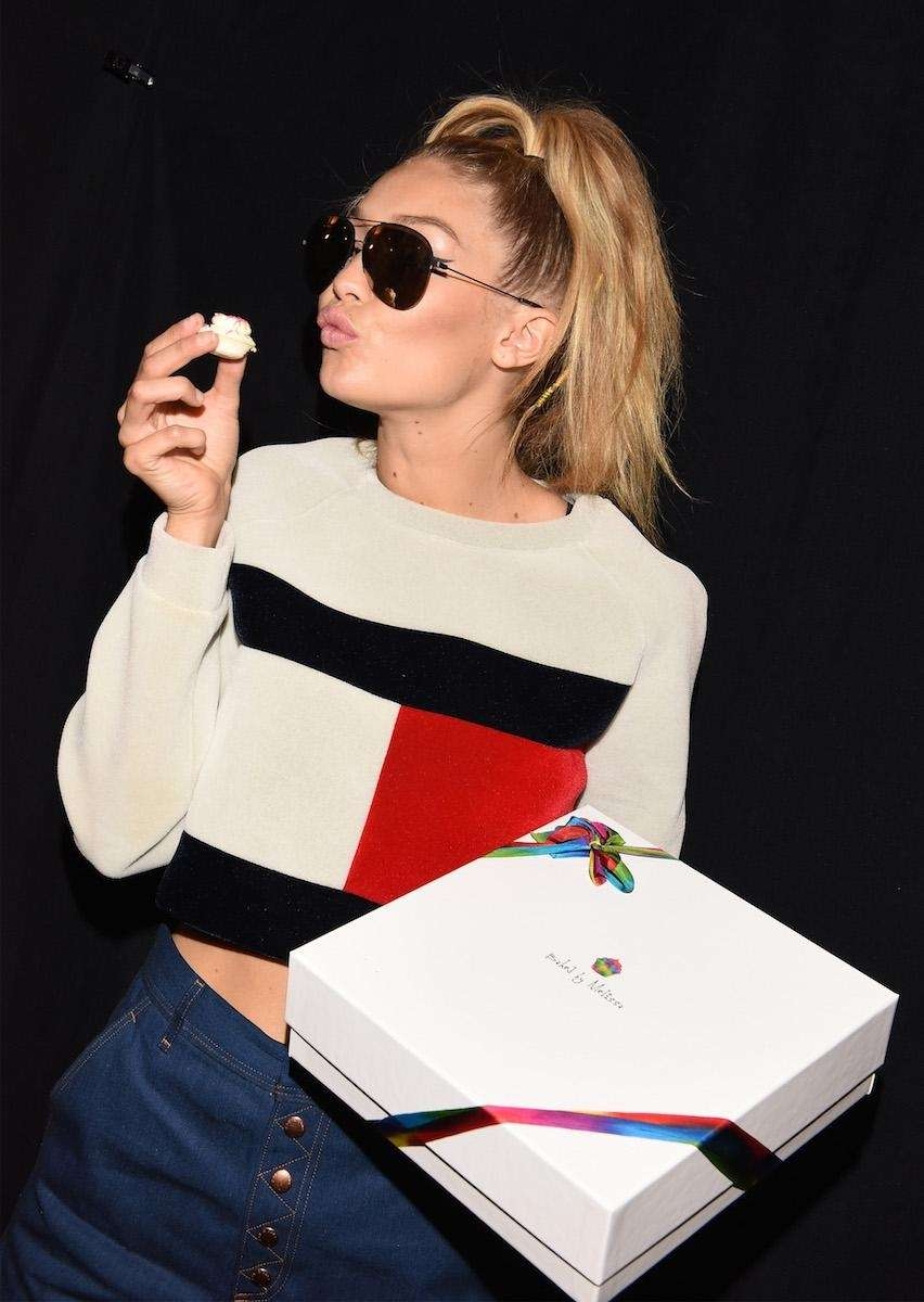 Model Gigi Hadid enjoys some custom Baked by