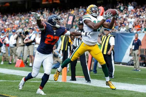 Randall Cobb #18 of the Green Bay Packers