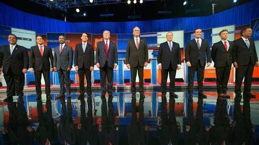 Republican presidential candidates, seen here on the Aug.