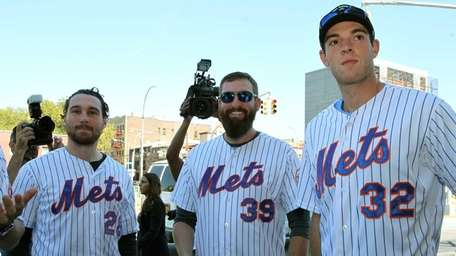 The Mets' Daniel Murphy, Bobby Parnell and Steven