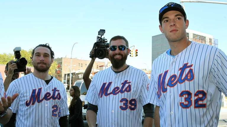 The Mets' Daniel Murphy, Bobby Parnell and Steven