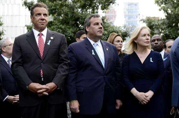 New York Gov. Andrew Cuomo, left, and New