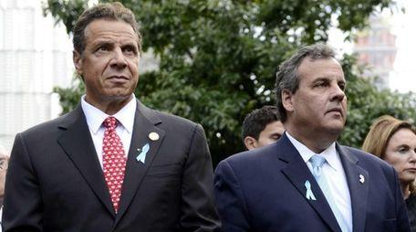 New York Gov. Andrew Cuomo, left, and New