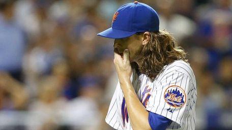 Jacob deGrom of the New York Mets walks