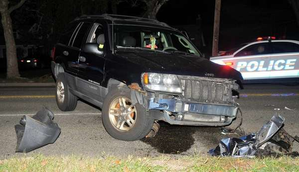 The driver of a Jeep Cherokee was injured