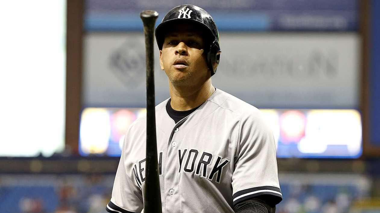 Alex Rodriguez of the New York Yankees walks