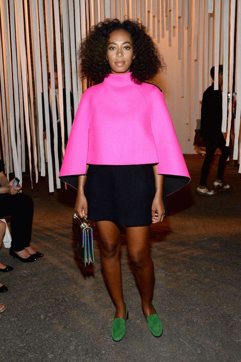 Solange Knowles attends the Milly By Michelle Smith