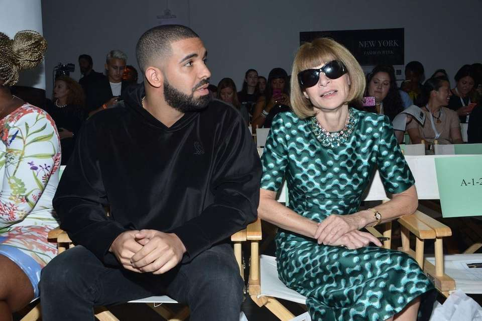 Drake and Anna Wintour attend the Serena Williams