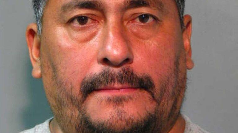 Rafael Castillo, 46, of Hempstead, was arrested on