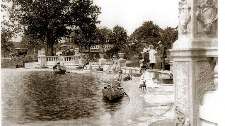 The boat basin at Brightwaters on Long Island,