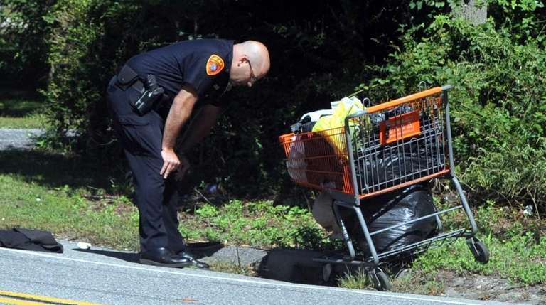Suffolk County police at the scene of a