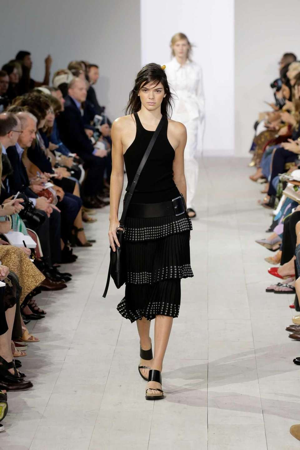 Kendall Jenner walks the runway at the Michael