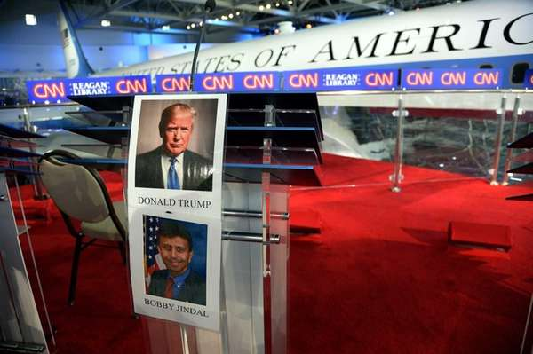 Pictures of candidates for the GOP presidential nomination