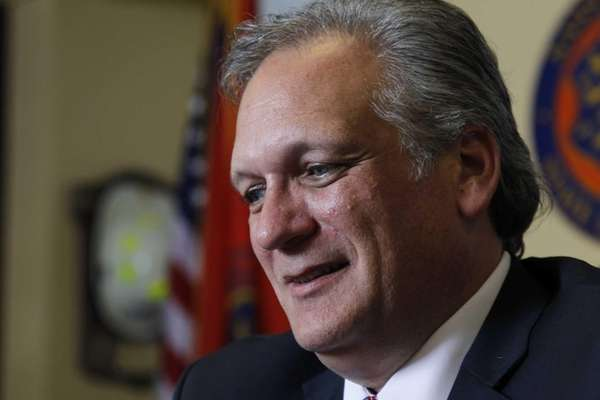 Nassau County Executive Edward Mangano, pictured here Sept.