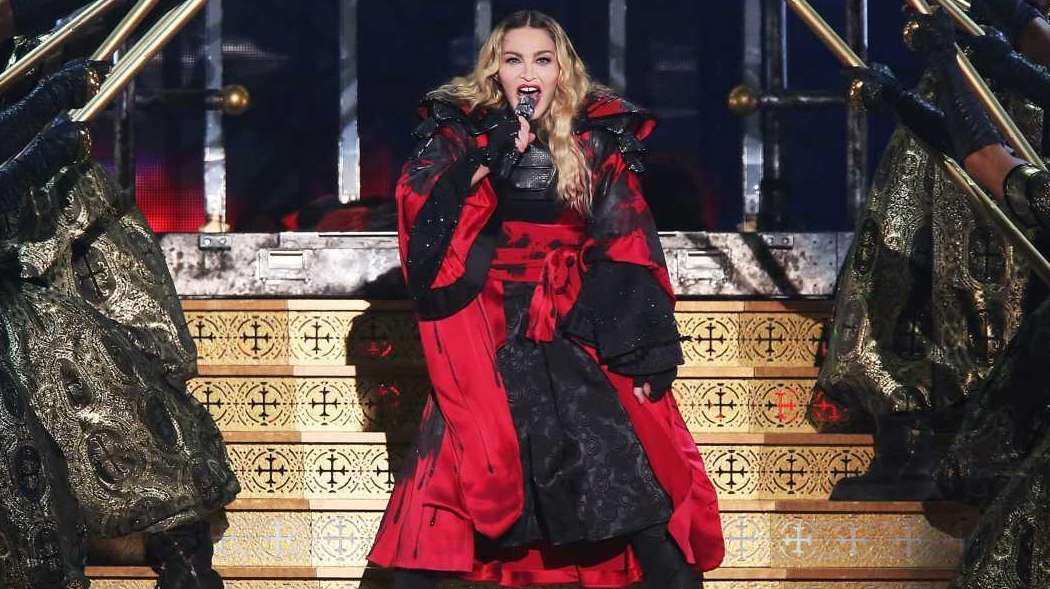 Madonna performs at Madison Square Garden in Manhattan