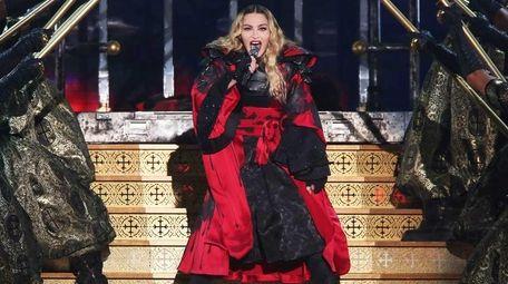 Madonna performs at Madison Square Garden in Manhattan