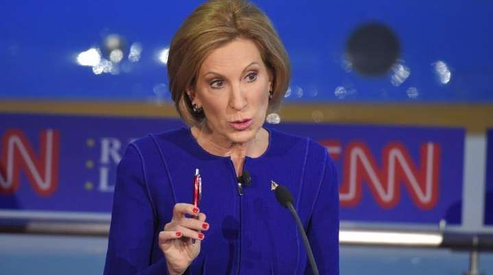Republican presidential candidate, businesswoman Carly Fiorina, makes a