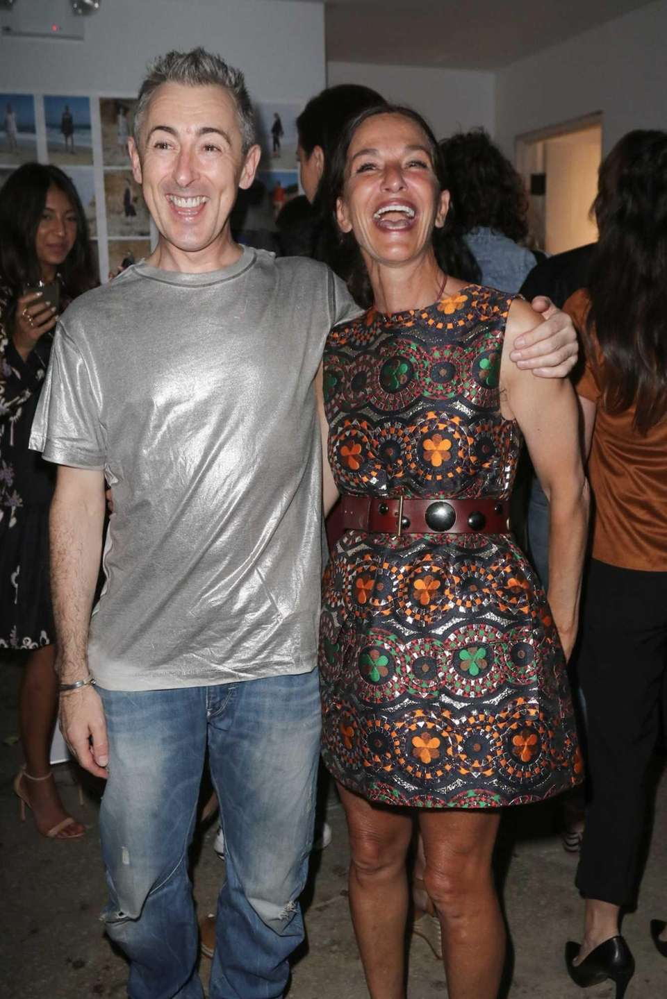 Alan Cumming and designer Cynthia Rowley attend her
