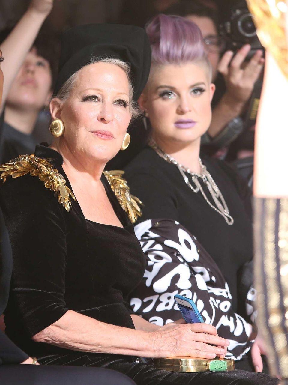 Bette Midler, left, and Kelly Osbourne attend The
