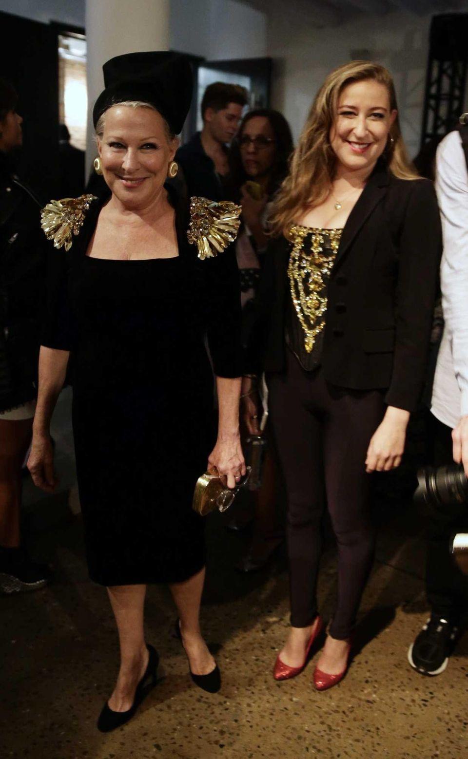 Bette Midler, left, and her daughter Sophie von