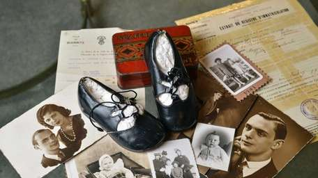 Mireille Taub wore these patent leather shoes as
