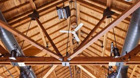 This newly constructed home features exposed ductwork for