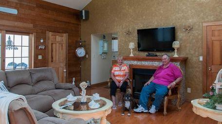 Gary and Denise Bennett in the living room