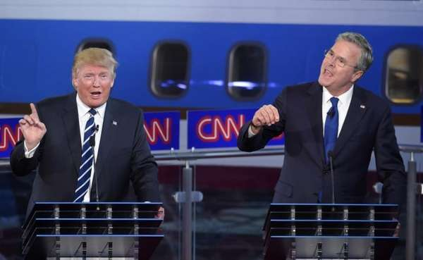 Republican presidential candidates, Donald Trump and former Florida