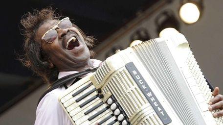 Grammy Award-winning artist Buckwheat Zydeco performs at the