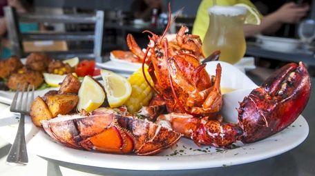 Lobster is served steamed, broiled, oreganata or fra