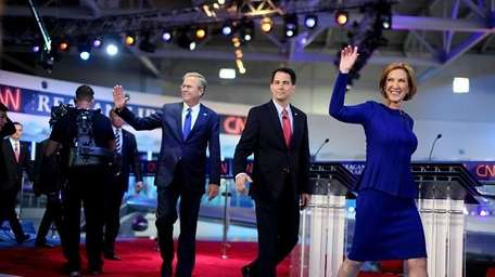 Candidates exist the second GOP debate.