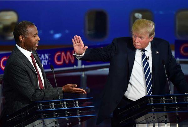 Republican presidential hopefuls Ben Carson and Donald Trump