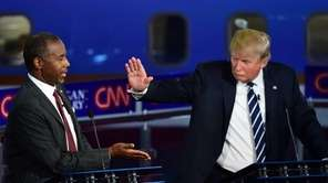 Republican presidential hopefuls Ben Carson and Donald Trump