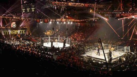 A rendering of how Bellator MMA: Dynamite 1