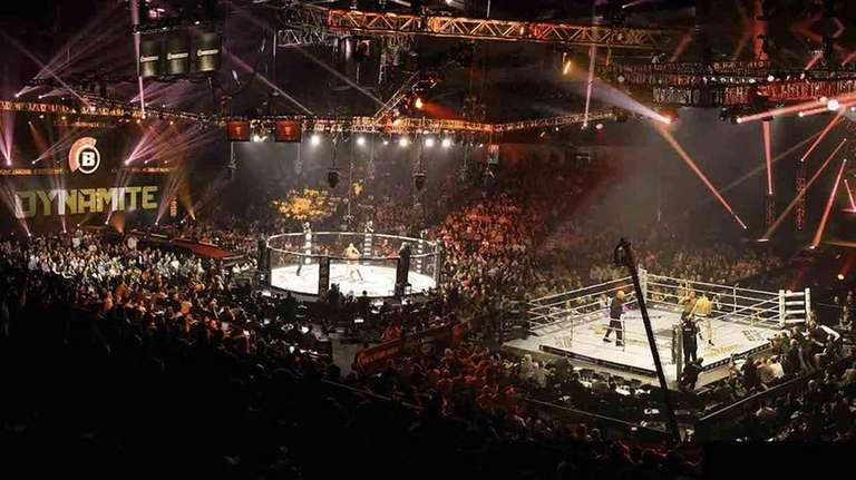 A rendering of how Bellator MMA: Dynamite 1