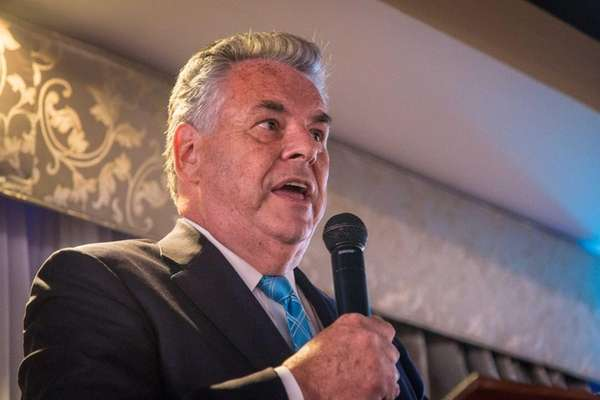 U.S. Rep. Peter King, pictured in Great Neck