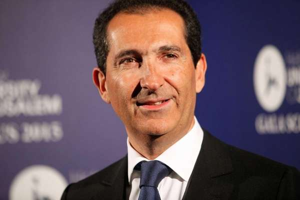 Altice group's chairman Patrick Drahi on March 18,